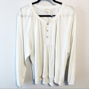 We the Free white flowy blouse size small